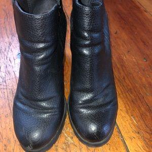 Shoes - Black combat heeled boots